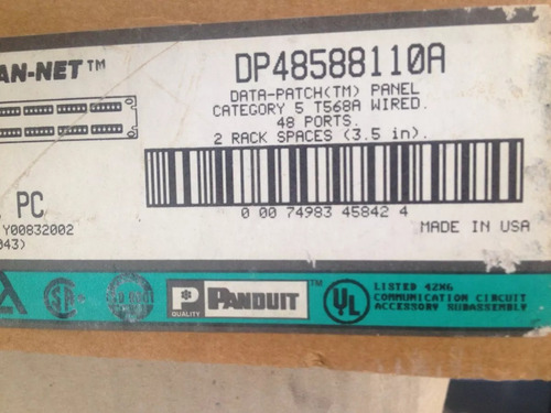 patch panel 48 portas cat5 - dp48588110a - panduit