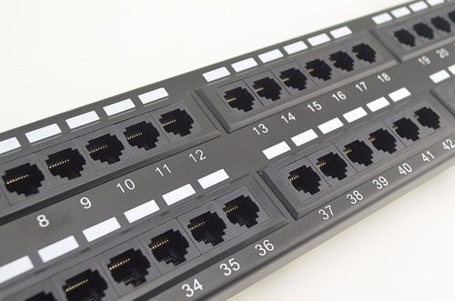 patch panel 48 puertos categoria 5e cat5 rackeable cat5e