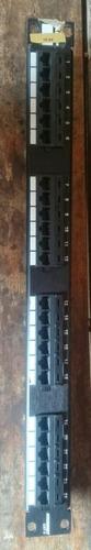 patch panel amp 24 portas cat5e rj45 semi novo otimo estado