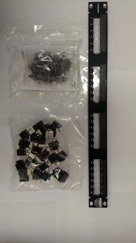patch panel amp cat 6 x 24 bocas rj45 - pachera