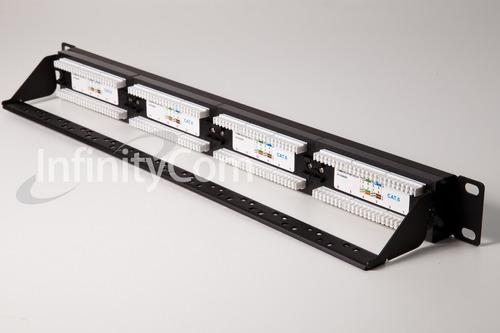 patch panel cat-6 24 portas c/ guia traseira