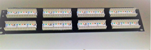 patch panel cat5e 48 portas amp