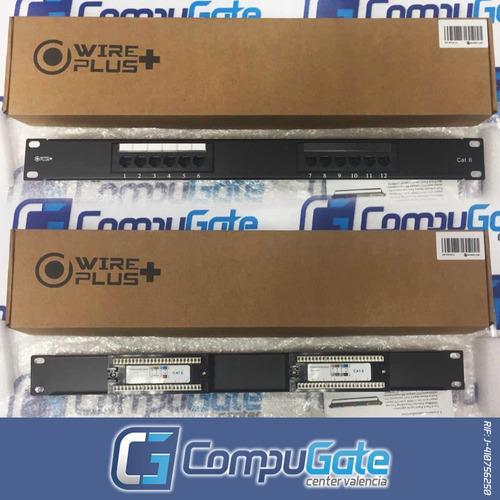 patch panel de 12 puertos cat6e oferta tienda cat6 nivel 6