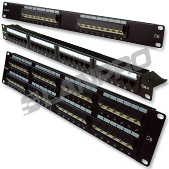 **patch panel lanpro p24c6 cat. 6 rack**