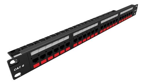 patch panel pachera furukawa 24 puertos cat6 t568a/b gigalan