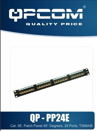 patch panel qpcom categoria 5e de 24 puertos para rack 19''