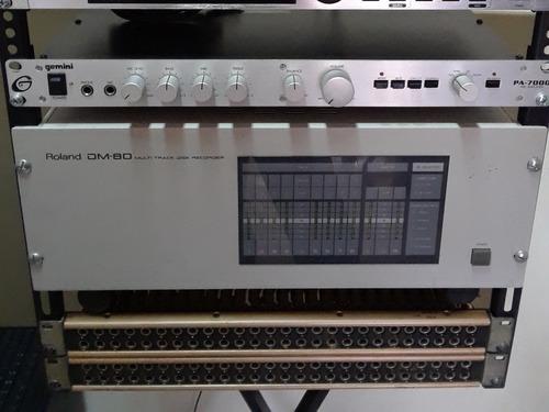 patch panel rack 52 conectores jack plug 1/4 adc pj-390