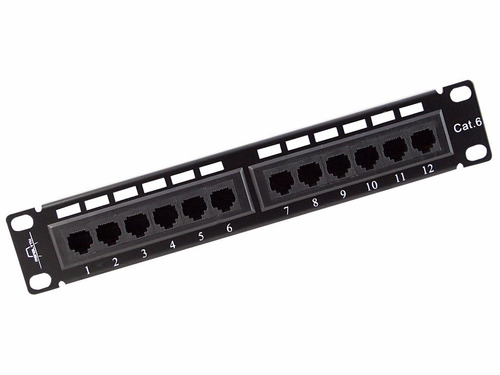 patch panel wireplus+ cat6 gigabit 12 puertos envio gratis