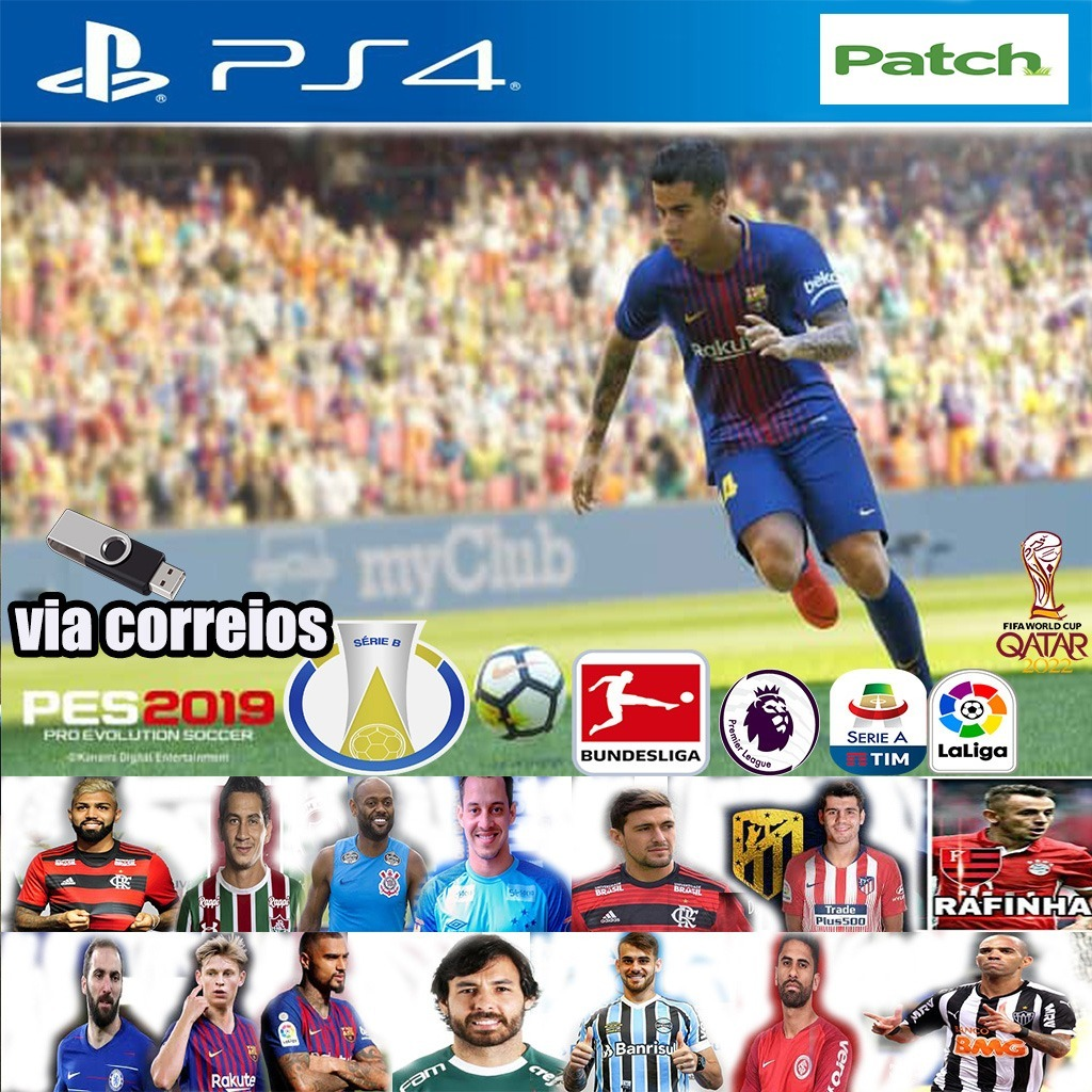 Patch Pes 2019 Ps4 Option V5 Envio Por Pendrive Ja Com Dlc 5