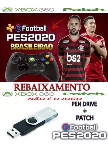 patch pes2020 para pes 2018 xbox 360 + pen drive 16 gigas