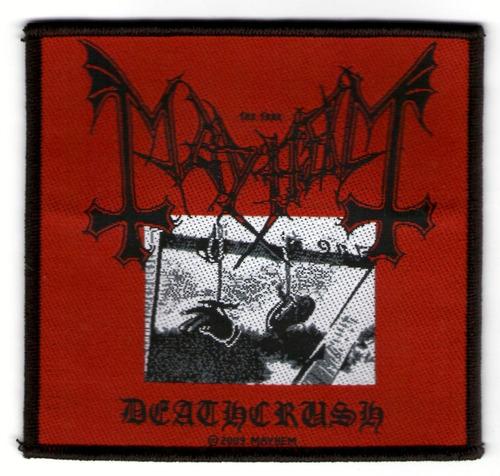 patch tecido - mayhem - deathcrush - importado