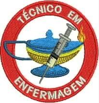Patch Termocolante Simbolo Tecnico Enfermagem Tamanho 8cm R 16