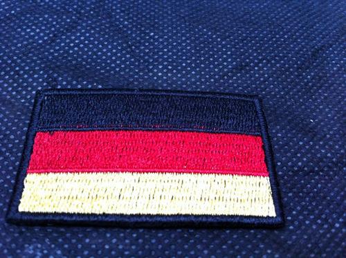 patche aplique bordado da bandeira da alemanha 5,5x4cm