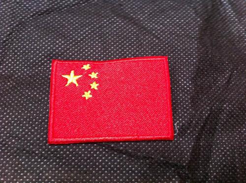 patche aplique bordado da bandeira da china 5,5 x 4cm