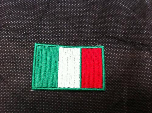 patche aplique bordado da bandeira da itália 5,5 x 4 cm