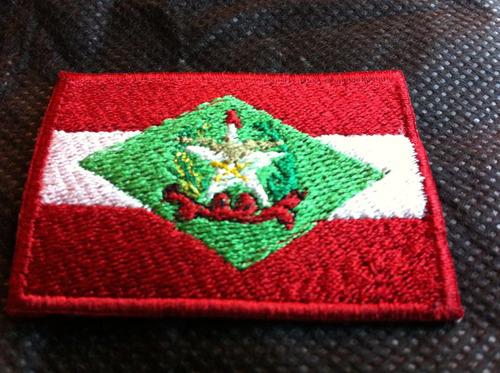 patche aplique bordado da bandeira de santa catarina 5,5 x 4