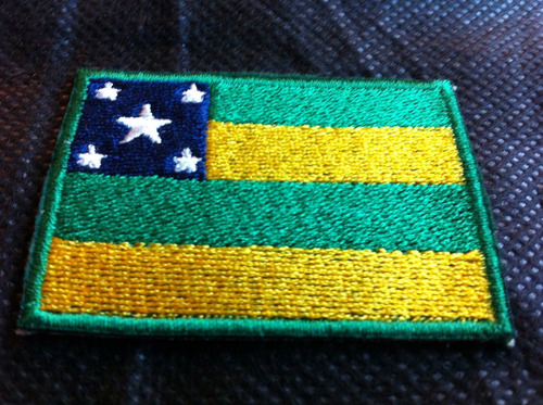patche aplique bordado da bandeira de sergipe 5,5 x 4cm