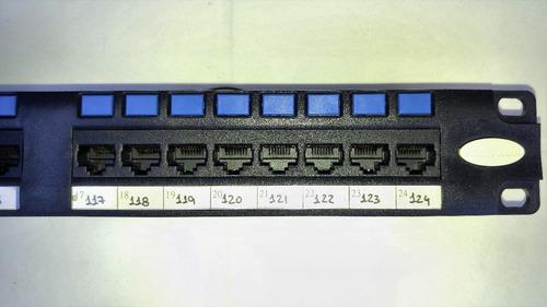 patchera furukawa de 24 puertos cat. 5e.