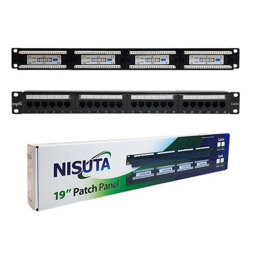 patchera patch panel rj45 24 puertos con jack cable cat 5