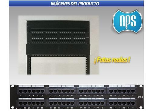patchpanel 48 ptos puertos cat5 cat5e excelente calidad