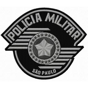 1426d24df406a Patch Bordado Policia Militar no Mercado Livre Brasil