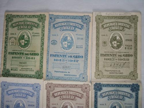 patente de giro - antiguas ( precio x todas ) de coleccion