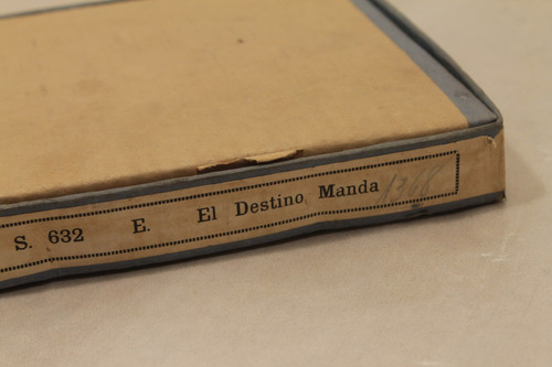 pathé 9,5 mm, antigua película el destino manda