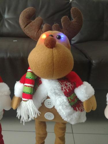 patilargos navideños de 65 cm con luz en la carita