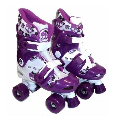 patin 4 ruedas con freno ajustable con boton jem yx 0126