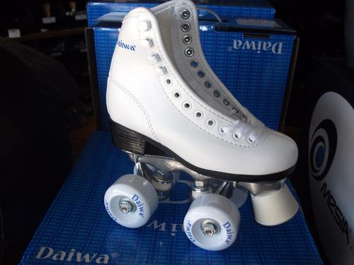 patin artistico daiwa profesional blanco 30 al 35