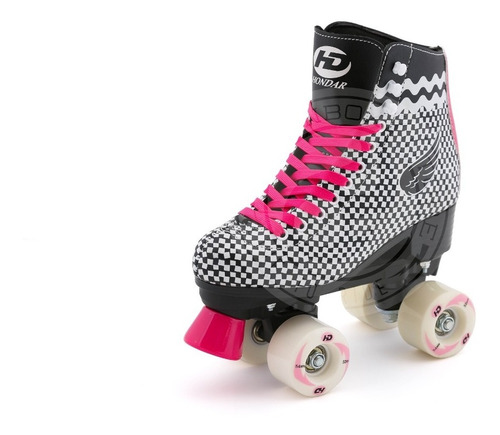 patin artistico hondar  blk cuatro ruedas paralelo talla 36