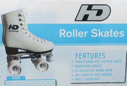 patin artístico hondar plancha aluminio abec7 talla 33