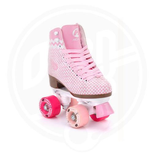 patin artistico hondar talla 32 rosa cuatro ruedas paralelo
