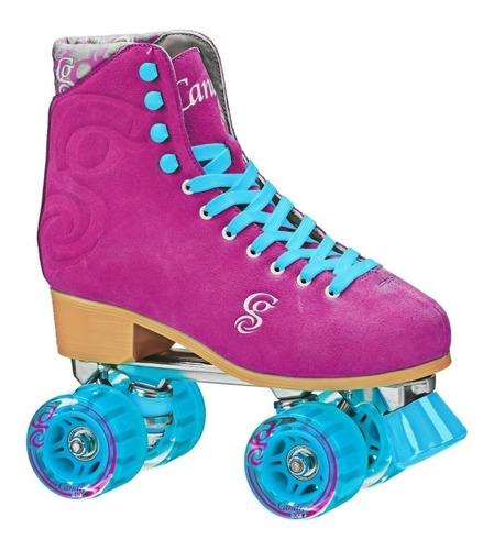 patin artistico roller derby bota cuero ruleman aluminio