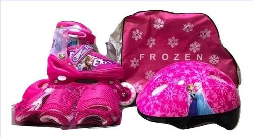 patín en linea ajustable kit para niñas frozen,envío gratis