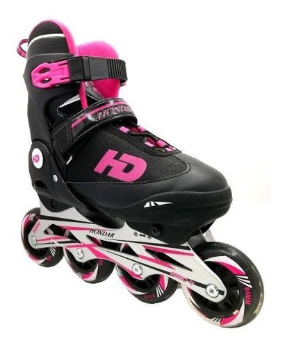 patin recreacional en linea marca hondar color fucsia 35-38