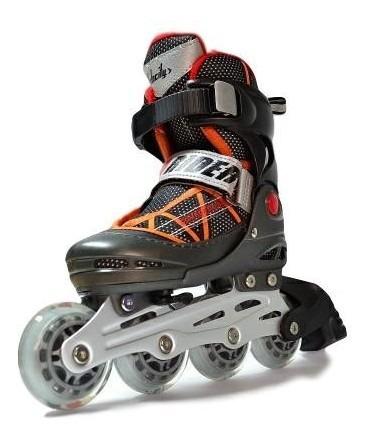 patin rider velocity negro/naranjo
