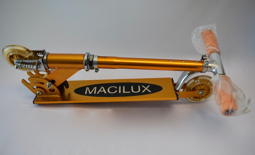 patin scooter del diablo aluminio color naranja