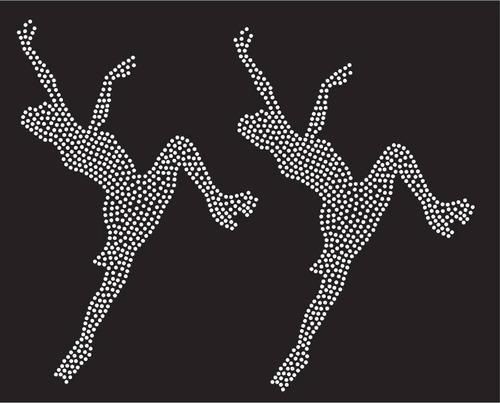 patinadora agachada strass facetada plancha (hotfix) #106