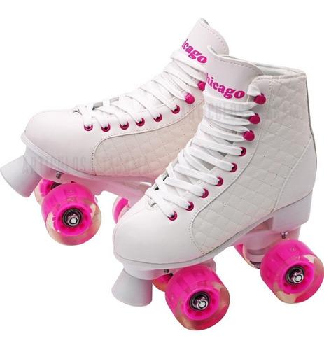 patines 4 ruedas chicago llantas con luces varias tallas