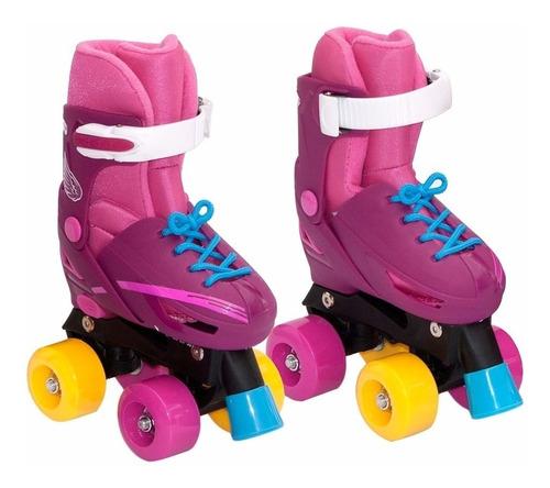 patines 4 ruedas estilo soy luna 27 al 38+casco+protecciones