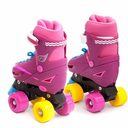 patines 4 ruedas estilo soy luna, talla ajustable 31 a 34