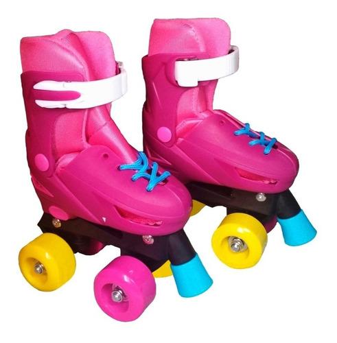 patines 4 ruedas niñas ajustable talla 27/38 estilo soy luna