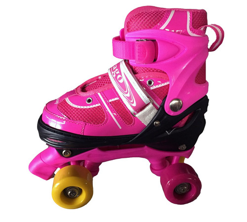 patines 4 ruedas silicon led estilo soy luna ajustables+ kit