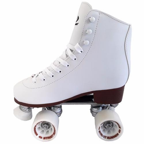 patines artisticos aluminio botas cuero 4 ruedas en talle 37