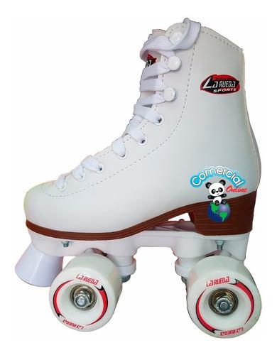 patines artisticos bota blanca moda niño niña