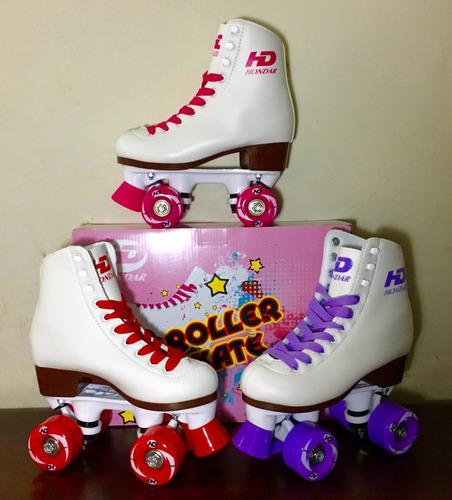 patines artísticos de 4 ruedas para niña luna hd hondar