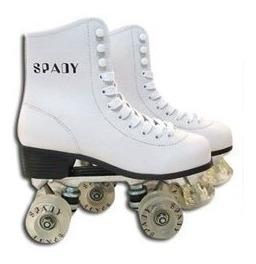 patines artisticos gold base aluminio bota cuero - estacion deportes olivos