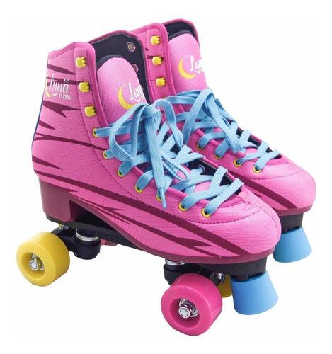 patines artisticos luna tuxs bota patin reforzado envío $0