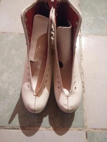 patines blancos para hielo imperial del numero 5